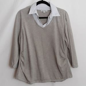 Studio Works Sweater top w/ collar